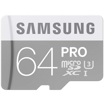Samsung PRO 64 GB microSDXC-kaart Class 10, UHS-I, UHS-Class 3 incl. SD-adapter