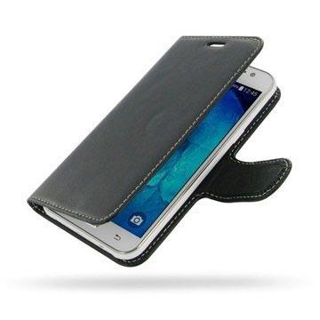 Samsung Galaxy J5 PDair Leren Case NP3BSSJ5B41 Zwart