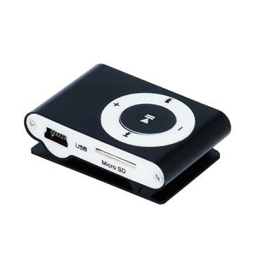 Setty Mini Mp3-Speler met Koptelefoon Zwart