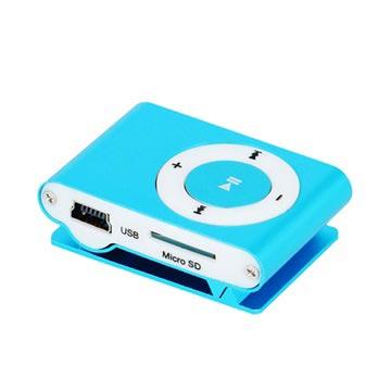 Setty Mini Mp3-Speler met Koptelefoon Blauw