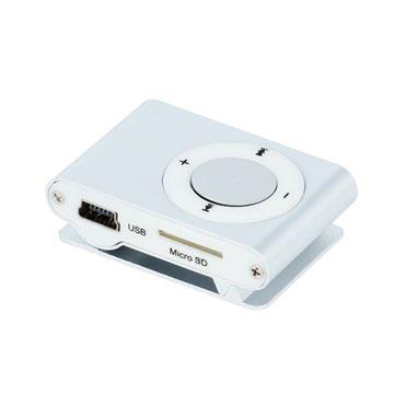 Setty Mini Mp3-Speler met Koptelefoon Zilver