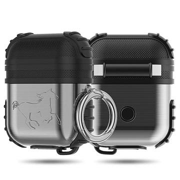 Shockproof Series AirPods-AirPods 2 Hybrid Case Zwart-Zilver