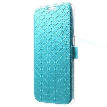 Samsung Galaxy S6 Slim Wallet Hoesje Blauw