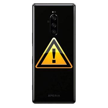 Sony Xperia 1 Batterij Cover Reparatie - Zwart