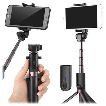 Universal 3-in-1 Bluetooth Selfie Stick met Tripod Zwart