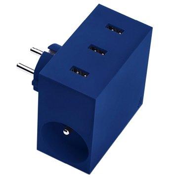 Usbepower Hide Power Hub Oplader Blauw