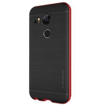 LG Nexus 5X VRS Design High Pro Shield Series Cover Crimson Rood