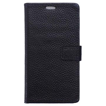 Samsung Galaxy J5 (2016) Wallet Leren Hoesje Zwart