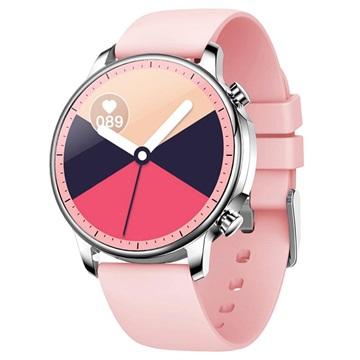 Waterproof Smartwatch Met Hartslagmeter V23 Roze