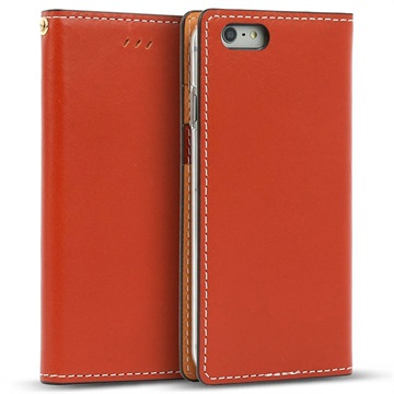iPhone 6/6S Wetherby Basic Wallet Case Rood Bruin