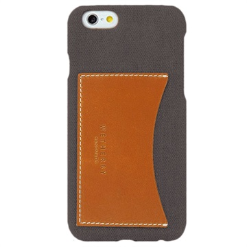iPhone 6/6S Wetherby Canvas Bar Pocket Cover Grijs