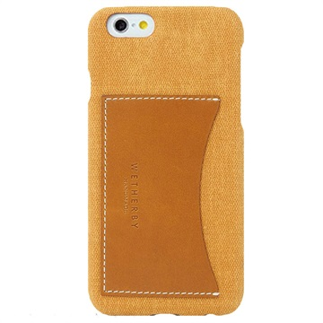 iPhone 6/6S Wetherby Canvas Bar Pocket Cover Geel