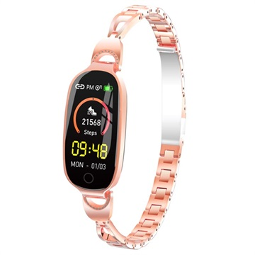 Women's Bluetooth Activity Tracker F18 Rose Gold