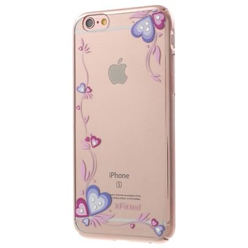 iPhone 6 Plus/6S Plus X-Fitted Swarovski Crystal Cover - Harten Rose Gold