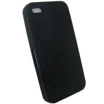 iPhone 4 iGadgitz Siliconen Hoesje Zwart
