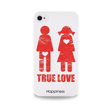 Iphone 4 4s Puro Happiness Cover Wit kopen