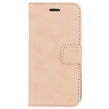 iPhone 6-6S Wallet Leren Hoesje Champagne