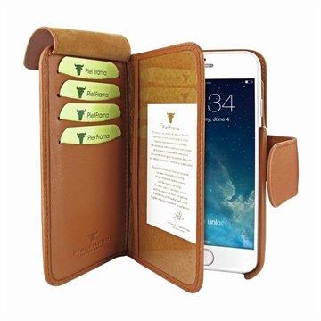 iPhone 6-6S Piel Frama Wallet Leren Hoesje Tan