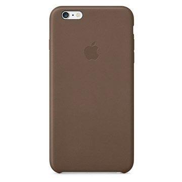 iPhone 6 Plus Leren hoesje Olijfbruin