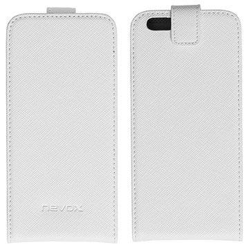 iPhone 6S Nevox Relino Flip Hoesje Wit-Grijs