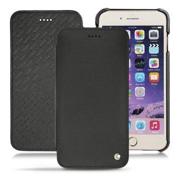 iPhone 7 Plus Noreve Tradition D Leren Flip Case Zwart