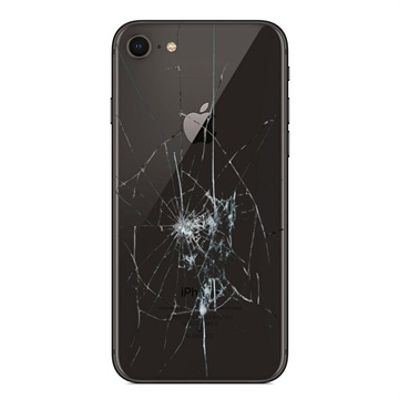 iPhone 8 Back Cover Repair Glass Only Black