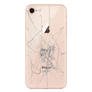 iPhone 8 Back Cover Repair Glass Only Gold