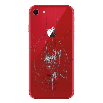 iPhone 8 Back Cover Repair Glass Only Red