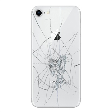 iPhone 8 Back Cover Repair Glass Only White