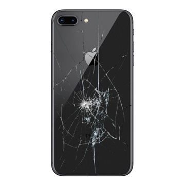 iPhone 8 Plus Back Cover Repair Glass Only Black