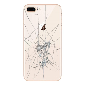 iPhone 8 Plus Back Cover Repair Glass Only Gold
