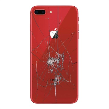 iPhone 8 Plus Back Cover Repair Glass Only Red