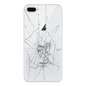 iPhone 8 Plus Back Cover Repair Glass Only White