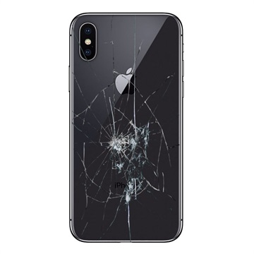 iPhone X Back Cover Repair Glass Only Zwart
