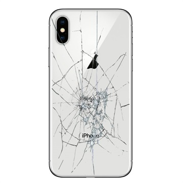 iPhone X Back Cover Repair Glass Only White