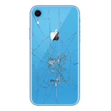 iPhone XR Back Cover Repair Glass Only Blue