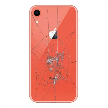 iPhone XR Back Cover Repair Glass Only Coral