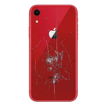 iPhone XR Back Cover Repair Glass Only Red