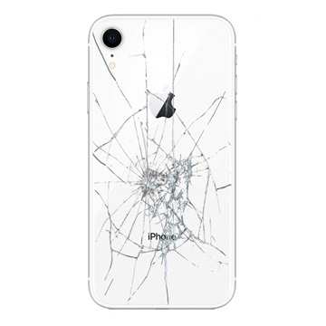 iPhone XR Back Cover Repair Glass Only White