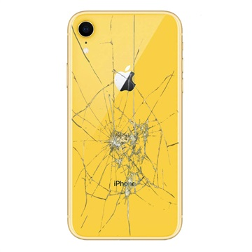 iPhone XR Back Cover Repair Glass Only Yellow