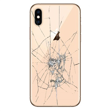 iPhone XS Back Cover Repair Glass Only Gold