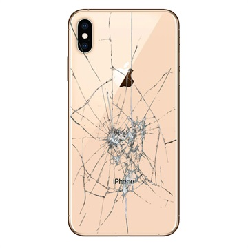 iPhone XS Max Back Cover Repair Glass Only Gold