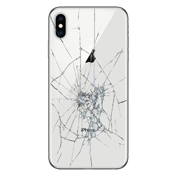 iPhone XS Max Back Cover Repair Glass Only White