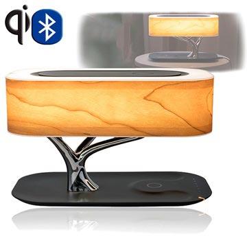 4smarts Smart-Bonsai-Qi Draadloze Oplader met Bluetooth Speaker & LED Lamp (Bulkverpakking)