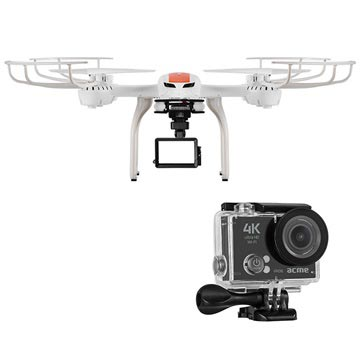 Acme X8500 Payload Drone & VR06 4K Ultra HD Action Camera