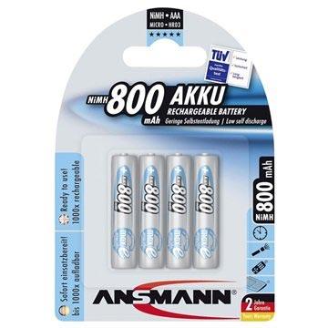 Ansmann maxE Oplaadbare AAA Batterijen - 800mAh