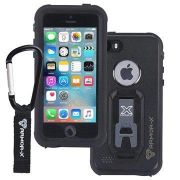 iPhone 5-5S-SE Armor-X Ultimate Waterdicht Hoesje Zwart