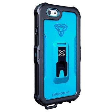 iPhone 6-6S Armor-X MX-AP4 Carabiner Waterdicht X-Mount Hoesje Dynamisch Blauw