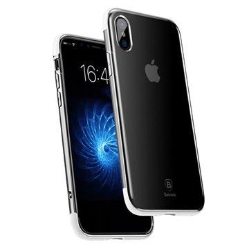 iPhone X Baseus Armor Series Doorzichtig TPU Case Wit-Doorzichtig