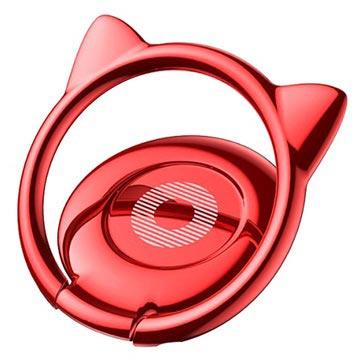 Baseus Cat Ears Ring Houder Rood